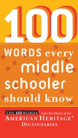 Press Release for 100 Words Every Middle Schooler Should Know published by Houghton Mifflin Company