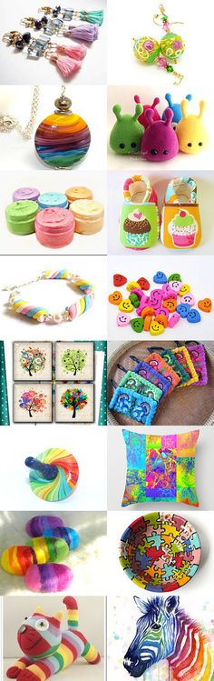 Rainbow Winter by Debbie and Roger Breton on Etsy--Pinned with TreasuryPin.com