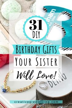 31 DIY birthday gifts for your sister or bestfriends. These are fun gifts to make that your friends, sister, mom or sister in law will legit love and cherish! Diy Birthday Gifts For Sister, Creative Birthday Gifts, Gifts For Your Sister, Sister Gifts, Gifts For Wife, Sister Birthday, Cheap Gifts, Cool Gifts, Diy Gifts