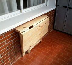 Sill n y mesa hechos con palets muebles de atumadera - Mesas terraza madera ...