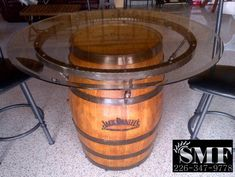 A While Back I Shared A Photo Of A Jack Danielu0027s Whisky Barrel With A  Little Custom Metal Fab, Transforming It To A Table And A Wonderful  Conversational ...