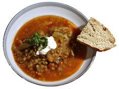 Karins linsesuppe Chana Masala, Hummus, Food Porn, Food And Drink, Ethnic Recipes, Soups, Soup, Treats