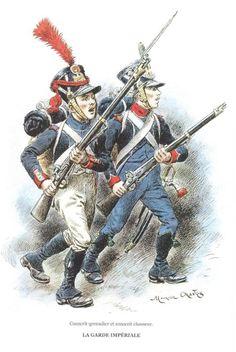 Coscritto granatiere e coscritto cacciatore della fanteria leggera francese - Maurice Henri Orange