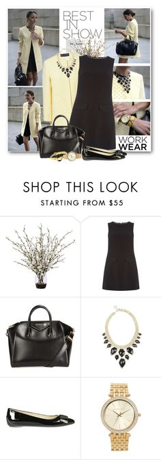 """""""Work Wear"""" by brendariley-1 ❤ liked on Polyvore featuring Lux-Art Silks, Dorothy Perkins, Givenchy, Kendra Scott, Hogan, Michael Kors, Marc by Marc Jacobs, lovelypepa, zara and Checkered"""