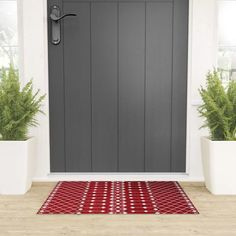 """First impressions are key—make your home's first look count with a welcome mat that's uniquely you. Our welcome mats are constructed from a looped vinyl which makes them easy to clean and durable enough to stand up to the elements. Whether you want to showcase your refined decor style or get funny with it—they're a must-have for your home.Made from a looped vinylDurable, latex, non-slip backing1/4"""" thickEasy to clean, either vacuum or hose offWipe clean with soap, water and a non-abrasive"""