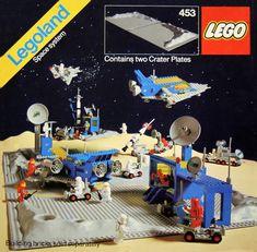 1980 LEGO Vintage Moon Base Crater//Lunar Landing Plates