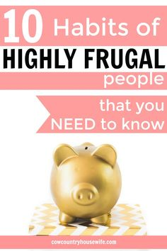 Ever wonder what sets frugal people apart from the rest of us? It's not as much as you think! Take a look at the habits of highly frugal people!