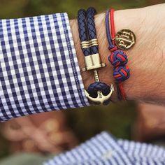 Anchor leather navy blue gold | Náramky Anchor | Paul Hewitt | Značky | 7 billion
