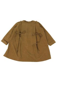 Antique linen ethnic smock/French antique linen/brown