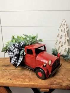 Red Truck Christmas old timey Christmas truck Christmas image 4 Christmas Truck, Christmas Gifts For Mom, Plaid Christmas, Christmas Images, Christmas Wreaths, Christmas Ideas, Christmas Christmas, Christmas Arrangements, Wedding Arrangements