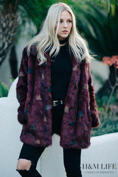 Los Angeles rocker chic meets sophisticated romance – Shea Marie of Peace Love Shea styles her H&M favorites. | Read more at H&M Life