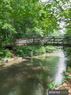 The Panther Creek Trail crosses a bridge near the Yonah Dam trailhead