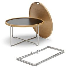 Tray Table (1970) by Hans J. Wegner, now re-issued by the Danish furniture manufacturer Carl Hansen & Søn