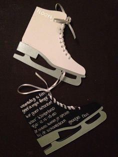 Uitnodiging voor een schaatsfeestje
