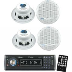 Save $ 70 order now Lanzar Marine Receiver and Speaker System Package for your B