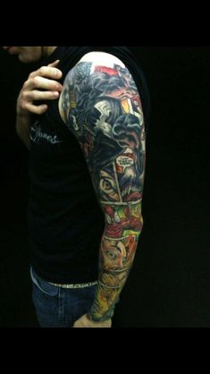 Comic tattoo sleeve