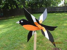 Handmade Wooden Oriole Bird shaped