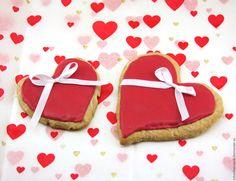 Купить Пряники с пожеланиями (имбирные, расписные,сердце) - ярко-красный, имбирные пряники, пряник расписной