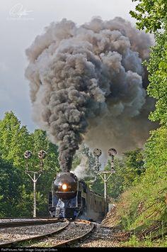 RailPictures.Net Photo: NW 611 Norfolk & Western Steam 4-8-4 at Blue Ridge, Virginia by Drifton