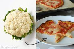 Mein neues Lieblingsrezept: Pizza aus Karfiol!! Hätte nie gedacht, dass das so gut ist, aber auch mein (fleischliebender) Mann liebt sie!!!