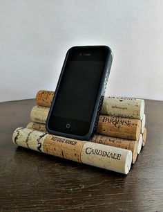 IPhone de corcho del vino / Smart Phone / iPod por LizzieJoeDesigns