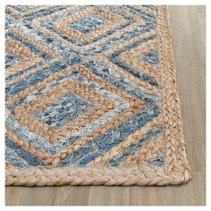 Bailey Area Rug - Natural / Blue (6' X 9') - Safavieh, Durable