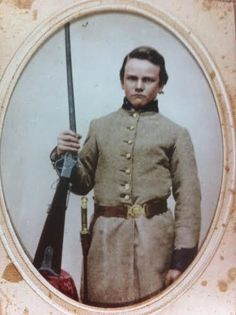 Young unidentified Tennessean holding a Maynard Carbine.