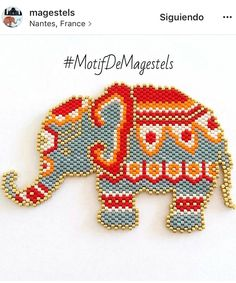 Browse Daily Anime / Manga photos and news and join a community of anime lovers! Peyote Patterns, Beading Patterns, Stitch Patterns, Perle And Co, Art Perle, Motifs Perler, Native Beadwork, Peyote Beading, Beaded Animals