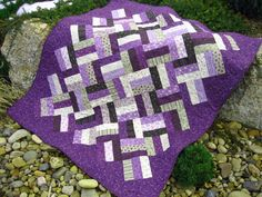 i somebody that loves grey and Purple!! What do you think about this Purple Persuasion Quilt? @Amanda Brendle
