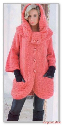 Однотонный комплект: жакет с рукавами 3/4, снуд и шарфик-петля. Размеры: 44-50 - Вязание - Страна Мам
