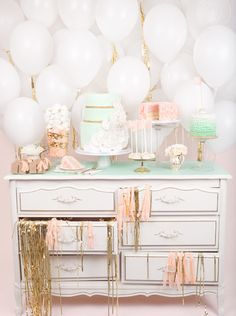 Mint Green & Pale Coral themed party