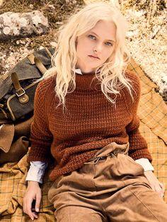 #DIY-Anleitung #Raglanpullover mit Strukturmuster stricken mit kostenloser Anleitung von Lana Grossa - free knit tutorial for raglan sweater via DaWanda.com