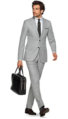 Suit Light Grey Plain Lazio P5281 | Suitsupply Online Store