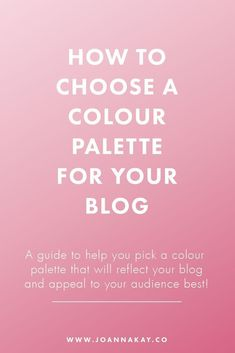 Colour plays an important role in branding your blog, as it makes a big impact on people's first impressions of you. People will judge your website based on the