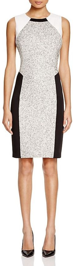 T Tahari Pria Color Block Sheath Dress #sponsored