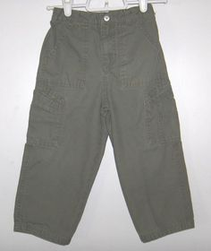 Boys Cargo Pants Green 100% Cotton Faded Glory Size 4T #FadedGlory #CargoCombat #Everyday
