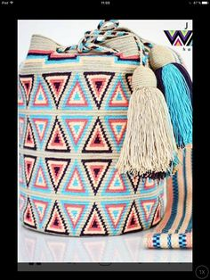 Tapestry Bag, Tapestry Crochet, Indian Patterns, Poufs, Crochet Bags, Friendship Bracelets, Purses And Bags, Nice, Style