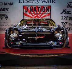 Libertywalk Miura Lamborghini Veneno, Lamborghini Diablo, Big Ride, Car Fix, Lotus Car, Liberty Walk, Gt Cars, Tuner Cars, Japan Cars