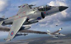 BAe Sea Harrier FRS.1 shoots down an Argentine Navy A-4Q Skyhawk, Falklands War, 1982 (Adam Tooby)