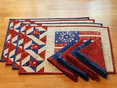 Desire to Inspire challenge - The Crafty Quilter #tablelinens #placemats #quilting #4thofjuly #patriotic