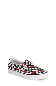 Vans 'Classic - Cherry Checkerboard' Slip-On (Toddler, Little Kid & Big Kid) available at #Nordstrom