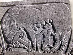Stele felsinea rilievo in arenaria, Civiltà etrusca, V sec. a.C., Bologna, Museo Civico Archeologico