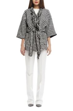 Wrap Over Kimono Jacket Kimono Jacket, Kimono Top, Keep Warm, Stripes, Legs, Knitting, Coat, Pants, Jackets