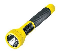 Streamlight, the only company to offer an LED/incandescent combination in a full-size flashlight, offers this patented technology in alkaline Streamlight 3C-XP/LED Yellow Flashlight. This light-weight flashlight features a high-output, pre-focused halogen main beam and a trio of close-range LEDs, allowing you to choose a super-bright beam or an incredibly long runtime.
