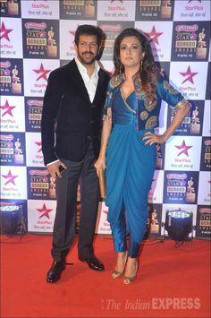 Kabir Khan and Mini Mathur at the #StarScreenAwards. #Bollywood #Fashion #Style #Beauty #Hot #Desi #WAGS