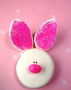 Easter  Oreo bunnies cookies, White Chocolate covered cookies, Easter snack ideas #2014 #Easter #Day #recipe #food #dessert #ideas www.loveitsomuch.com