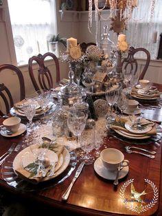 DIY Winter White Tablescape