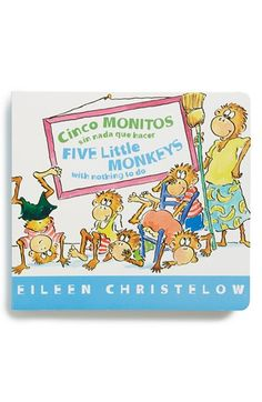 Infant 'Cinco Monitos Sin Nada que Hacer/Five Little Monkeys with Nothing to Do' Board Book