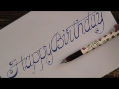 cursive fancy letters - how to write cursive fancy letters happy birthday
