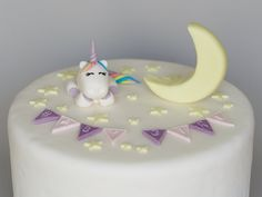 Baby Shower Unicorn, Stars and Moon Cake Topper, Fondant, Twinkle Twinkle Little Star, Personalized Fondant Cake Toppers, Fondant Baby, Baby Girl Cakes, Balloon Cake, Unicorn Cake Topper, Baby Unicorn, Moon Cake, Twinkle Twinkle Little Star, Stars And Moon